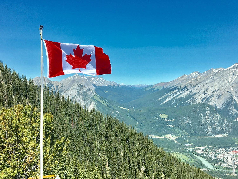 Canada's flag i alperne