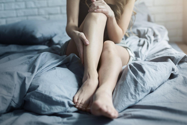 Kvinde med trætte ben