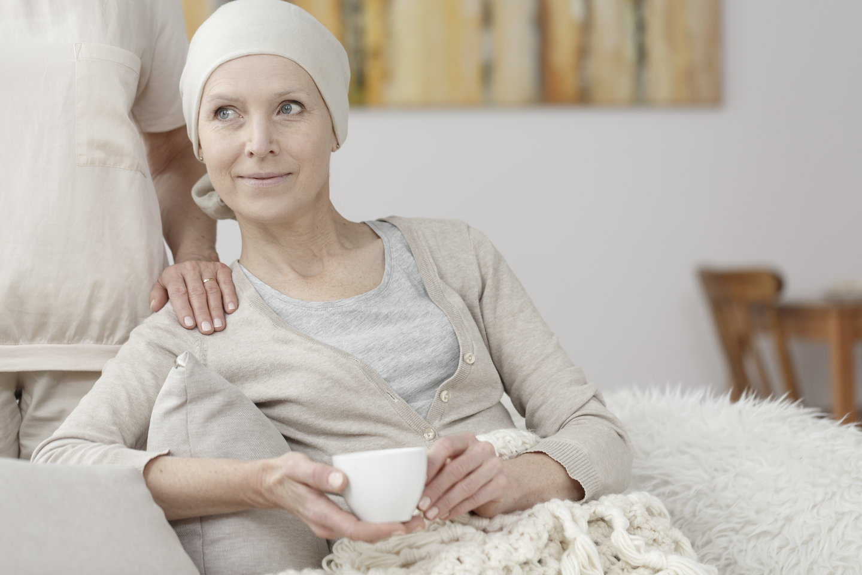 Glad kræft patient