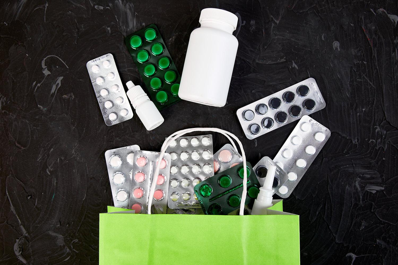 Shopping taske med medicin
